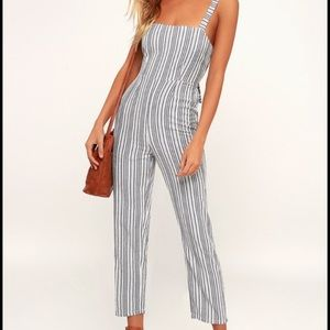 Amuse society stripped jumpsuit. Large